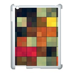 Background With Color Layered Tiling Apple Ipad 3/4 Case (white) by Simbadda