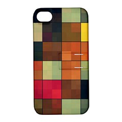 Background With Color Layered Tiling Apple Iphone 4/4s Hardshell Case With Stand