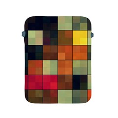 Background With Color Layered Tiling Apple Ipad 2/3/4 Protective Soft Cases by Simbadda