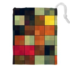 Background With Color Layered Tiling Drawstring Pouches (xxl) by Simbadda