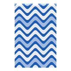 Background Of Blue Wavy Lines Shower Curtain 48  X 72  (small)  by Simbadda