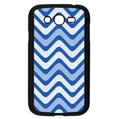 Background Of Blue Wavy Lines Samsung Galaxy Grand Duos I9082 Case (black) by Simbadda
