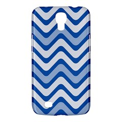 Background Of Blue Wavy Lines Samsung Galaxy Mega 6 3  I9200 Hardshell Case by Simbadda