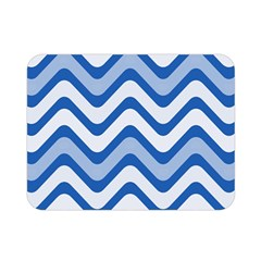 Background Of Blue Wavy Lines Double Sided Flano Blanket (mini)  by Simbadda