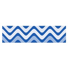 Background Of Blue Wavy Lines Satin Scarf (oblong) by Simbadda