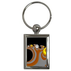 Classic Mandelbrot Dimpled Spheroids Key Chains (rectangle)  by Simbadda
