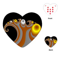 Classic Mandelbrot Dimpled Spheroids Playing Cards (heart)  by Simbadda