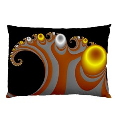 Classic Mandelbrot Dimpled Spheroids Pillow Case by Simbadda