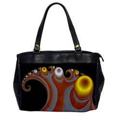 Classic Mandelbrot Dimpled Spheroids Office Handbags by Simbadda
