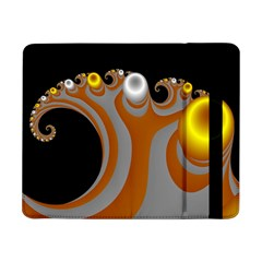 Classic Mandelbrot Dimpled Spheroids Samsung Galaxy Tab Pro 8 4  Flip Case by Simbadda