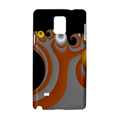 Classic Mandelbrot Dimpled Spheroids Samsung Galaxy Note 4 Hardshell Case by Simbadda