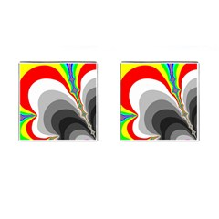 Background Image With Color Shapes Cufflinks (square)