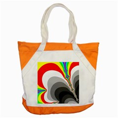 Background Image With Color Shapes Accent Tote Bag