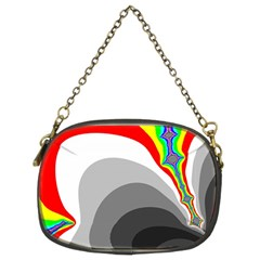 Background Image With Color Shapes Chain Purses (two Sides)