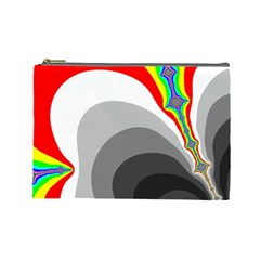 Background Image With Color Shapes Cosmetic Bag (large)