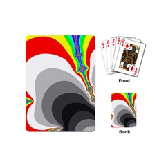 Background Image With Color Shapes Playing Cards (mini)  by Simbadda