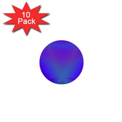 Violet Fractal Background 1  Mini Buttons (10 Pack)