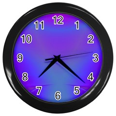 Violet Fractal Background Wall Clocks (black) by Simbadda