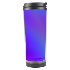 Violet Fractal Background Travel Tumbler by Simbadda
