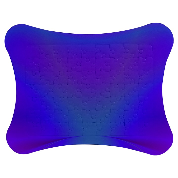 Violet Fractal Background Jigsaw Puzzle Photo Stand (Bow)