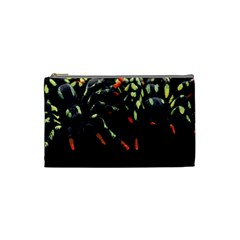 Colorful Spiders For Your Dark Halloween Projects Cosmetic Bag (small)  by Simbadda