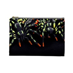 Colorful Spiders For Your Dark Halloween Projects Cosmetic Bag (large)  by Simbadda