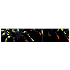 Colorful Spiders For Your Dark Halloween Projects Flano Scarf (small)