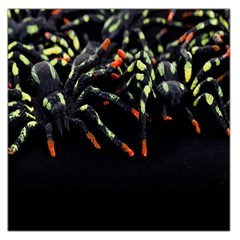 Colorful Spiders For Your Dark Halloween Projects Large Satin Scarf (square) by Simbadda