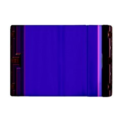 Blue Fractal Square Button Apple Ipad Mini Flip Case by Simbadda
