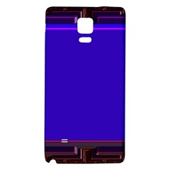 Blue Fractal Square Button Galaxy Note 4 Back Case