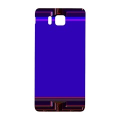 Blue Fractal Square Button Samsung Galaxy Alpha Hardshell Back Case