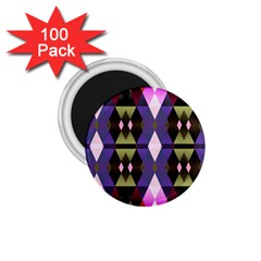 Geometric Abstract Background Art 1 75  Magnets (100 Pack)  by Simbadda