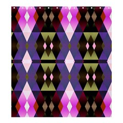 Geometric Abstract Background Art Shower Curtain 66  X 72  (large)