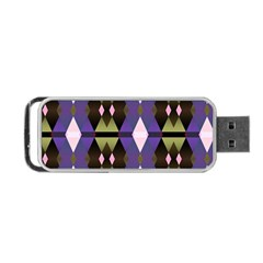 Geometric Abstract Background Art Portable Usb Flash (two Sides) by Simbadda