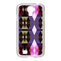 Geometric Abstract Background Art Samsung Galaxy S4 I9500/ I9505 Case (white) by Simbadda