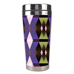 Geometric Abstract Background Art Stainless Steel Travel Tumblers by Simbadda
