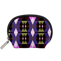 Geometric Abstract Background Art Accessory Pouches (small)  by Simbadda