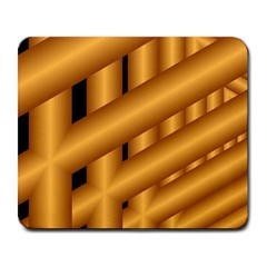 Fractal Background With Gold Pipes Large Mousepads by Simbadda
