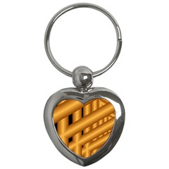 Fractal Background With Gold Pipes Key Chains (heart)