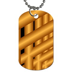 Fractal Background With Gold Pipes Dog Tag (one Side)