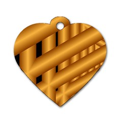 Fractal Background With Gold Pipes Dog Tag Heart (one Side) by Simbadda