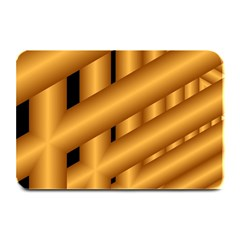 Fractal Background With Gold Pipes Plate Mats by Simbadda