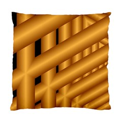 Fractal Background With Gold Pipes Standard Cushion Case (one Side) by Simbadda