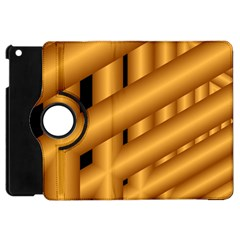 Fractal Background With Gold Pipes Apple Ipad Mini Flip 360 Case by Simbadda