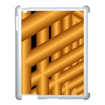 Fractal Background With Gold Pipes Apple iPad 3/4 Case (White) Front