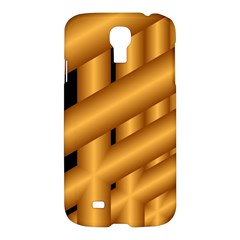 Fractal Background With Gold Pipes Samsung Galaxy S4 I9500/i9505 Hardshell Case by Simbadda