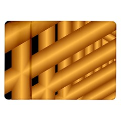Fractal Background With Gold Pipes Samsung Galaxy Tab 10 1  P7500 Flip Case by Simbadda