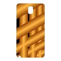 Fractal Background With Gold Pipes Samsung Galaxy Note 3 N9005 Hardshell Back Case