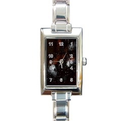 Lights And Drops While On The Road Rectangle Italian Charm Watch by Simbadda