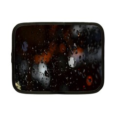 Lights And Drops While On The Road Netbook Case (small)  by Simbadda